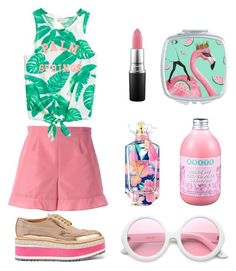 """""""Getting ready for summer early🍉🌺"""" by dxrinafxhs on Polyvore featuring Mode, RED Valentino, MAC Cosmetics, Forever 21, Victoria's Secret, ZeroUV und Prada"""
