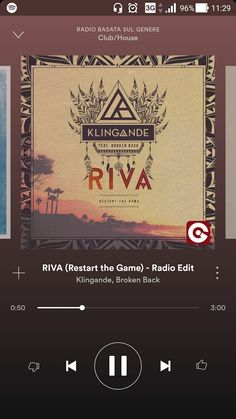 """Klingande - Riva """"...You've tasted pain of loosing someone who broke her chains, don't ever look back at these wasted moments cause future ain't what it used to be, she is not to blame you shook the tree fell what should fall as you could see restart the game...You can't stay for years crying all your tears, move your freaking ass: forget about the past. You are not out of mind, down this road you'll find answers to your pain, just walk to make it end..."""""""
