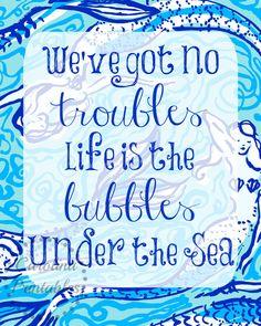 Mermaid  Lilly Pulitzer inspired Print Set by CarolinaPrintables, $4.00