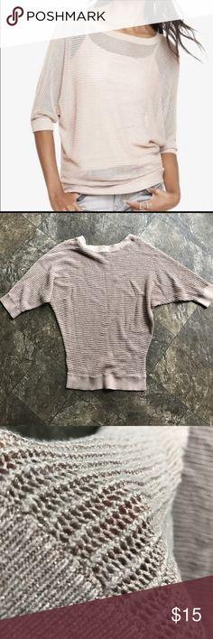 Express metallic dolman sweater EUC Express dolman sweater, pink and gold metallic, size xs. Express Sweaters