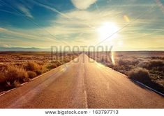 size: Photographic Print: Road through Landscape. Road and Car Travel Scenic and Sunset.Car Travel Advent by carlos castilla : Lonely Planet, Sunset Road, Destinations, Car Travel, Hd Wallpaper, Desktop Wallpapers, Adventure Travel, Paths, The Good Place