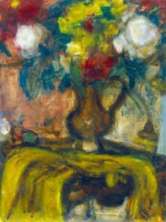 Czóbel, Béla (1883-1976) Flowers in a brown jug (Still life with peonies), 1936