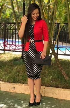 Vestido tubinho: como usar - Vestido do dia Suit Fashion, Work Fashion, Modest Fashion, Fashion Outfits, Classy Work Outfits, Classy Dress, Dressy Dresses, Dress Outfits, Look Office