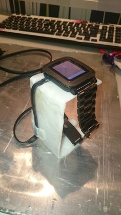 Pebble time watch stand