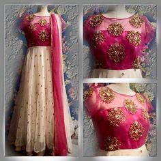Beautiful net #Anarkali at #fashionvibes.