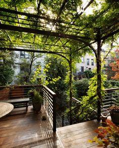 Kim Hoyt Garden with Deck and Trellis_Gardenista