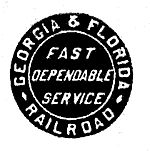 Georgia and Florida Railroad.  1926-1963.  The Southern Railway gained control in 1963, reorganized it as the Georgia and Florida Railway, and merged it into the SR subsidiary Central of Georgia Railroad in 1971.