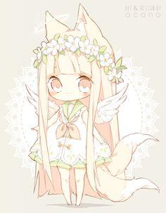 [CLOSED] ADOPTABLE   Angel Fox by ocono.deviantart.com on @DeviantArt