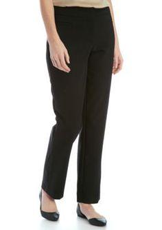 Kim Rogers Black Petite Size Cotton Pant
