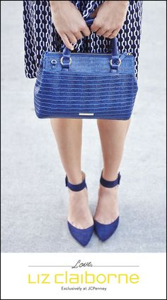 Shades of blue, the perfect fall-to-winter hue. Part of the new Liz Claiborne collection, exclusively at JCPenney.