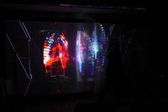"Transmedial Literature Performance ""KörperBilder"" (Body images) Text/Perfomance: Rhea Krcmárová Projection Art by Sound: Henric Fischer/Das Stadtkind Photo (c) Hubert Sielecki Body Images, Literature, Neon Signs, Design, Art, Literatura, Art Background, Kunst"