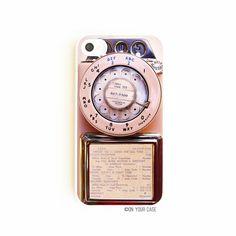 iPhone 4/4S Case Retro Vintage Payphone por onyourcasestore en Etsy