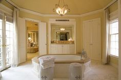 love the oversized tub in the middle of the room.