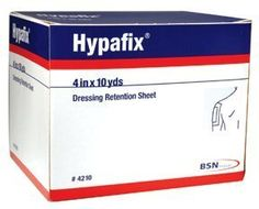 """Hypafix Dressing Retention Tape - 4"""" x 30' by Smith & Nephew. Save 31 Off!. $18.65. Product Numbers: 4209, 421x Product Description Hypafix Non-Woven Dressing Retention Tape is an adhesive, non-woven fabric for dressing retention. Products in this Series"""