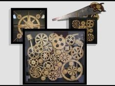 Kinetic Wall Sculptures by Brett Dickins, Assembly Animations - YouTube