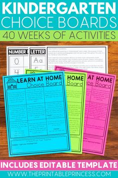 Use these kindergarten homework choice boards for easy assignments at home! Your students will love taking control of their learning at home and making sure they master both their math and literacy skills away from school. These are great to use while in the classroom or online learning!
