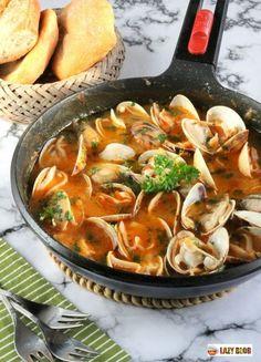 Clam Recipes, Best Seafood Recipes, Healthy Recipes, Tapas, Mediterranean Dishes, Caribbean Recipes, Everyday Food, Food Menu, No Cook Meals