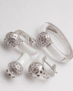 Set argint cod 3-2342, gr12.4 Cod 3, Diamond Earrings, Jewelry, Jewlery, Bijoux, Schmuck, Jewerly, Jewels, Jewelery