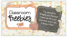 If you like the original, you will LOVE CF2!  The authors there are sharing TONS of great freebies every day!  Make sure to show your support by following!  http://www.classroomfreebiestoo.com/