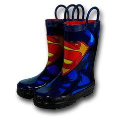 Botas de Superman para la lluvia