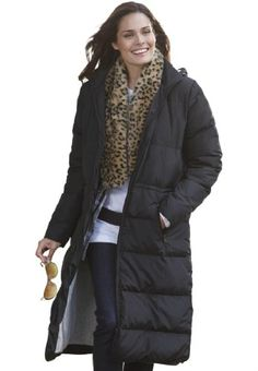 Woman Within Plus Size Coat, Long Length In Lightweight Feather Down - List price: $169.99 Price: $89.99