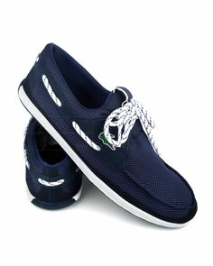 · Navy Blue Dockside Lacoste shoes · Made from textile and rubberized materials · White rubberized exter. Boat Shoes, Men's Shoes, Nike Shoes, Dress Shoes, Shoes Men, Lacoste Shoes, Lacoste Polo Shirts, Dockside Shoes, Shirt Stays
