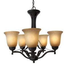 Commercial Electric, Rustic Iron 5-Light Chandelier, ESS8115-3 at The Home Depot - Mobile