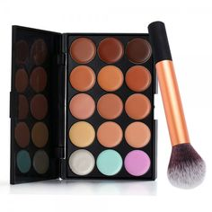 Cheap contour palette, Buy Quality makeup base directly from China color correcting concealer Suppliers: 15 Color Correcting Concealer Permanent Makeup Set Facial Foundation Bronzer Pigment Corrector Contour Palette Color Correcting Concealer, Cream Concealer, Contour Palette, Bronzer, Face Contouring Makeup, Face Makeup, Drugstore Makeup Hacks, Make Up, Makeup Lips