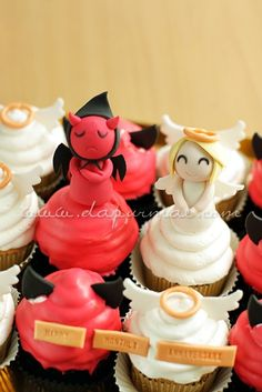 Devil and Angel Cupcakes