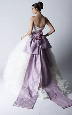 Priscilla of Boston silk satin with tulle and organza skirt ball gown...beautiful!