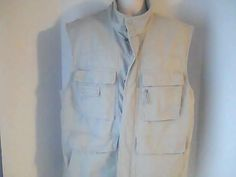 Columbia Mens XL Beige Canas Hunting Fishing Vest 100% Cotton #Columbia #vest