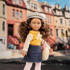"""Lori Doll SAMANDA Girl 6/""""  Brown Eyes Brown Red Auburn Hair Horse EQUESTRIAN AG"""