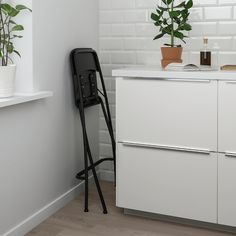 FRANKLIN Bar stool with backrest, foldable, white, white, Tested for: 220 lb - IKEA Foldable Bar Stools, Folding Bar Stools, Bar Ikea, Ikea Barstools, Black Bar Stools, Wayfair Living Room Chairs, Soft Flooring, Stools With Backs, Chaise Bar