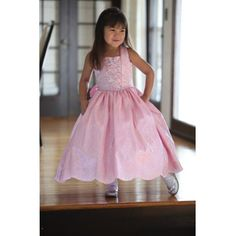 4a01a6440 Angels Garment Pink Dress Size 6 Taffeta Tie Bow Little Flower Girl >>> You