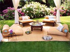 Wicker Outdoor Living Areas Es Decor Floor Seating Flooring