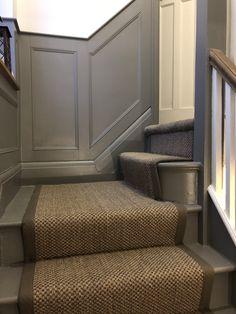 Oriental pewter sisal stair runnet