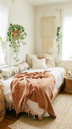 Boho Room, Bohemian Bedrooms, Room Ideas Bedroom, Girls Bedroom, Girl Rooms, Master Bedroom, Ideas For Bedrooms, Bright Bedroom Ideas, Bedroom Furniture
