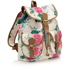 Accessorize Bloom Rose Embroidered Rucksack ($68) ❤ liked on Polyvore