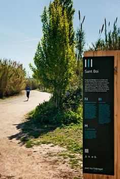 Signaling, signage, Signage, Signage, Park River Llobregat, Llobregat parrque, natural, signage system, river