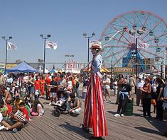 The 2.7-mile Coney Island Boardwalk reopened its carnival-style Luna Park amusement park to great fanfare Memorial Day weekend 2010.