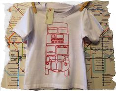 London Bus Screen Print TShirt by EricaCollinsImages on Etsy, $10.00
