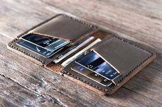 Handmade Front Pocket Design Leather Credit Card Wallet