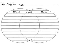 Compare And Contrast Graphic Organizer  Notebooking