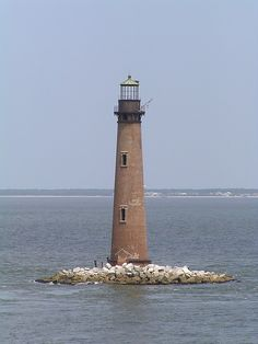 Sand Island Lighthouse southernmost point of the state ofAlabama US30.187778, -88.050556