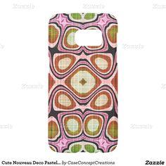 Cute Nouveau Deco Pastel Pink Green Mosaic Pattern Samsung Galaxy S7 Case
