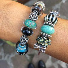 Troll Beads, Beaded Jewelry, Jewellery, Jewelry Companies, Jewelry Design, Pandora, Bracelets, Glass, Silver