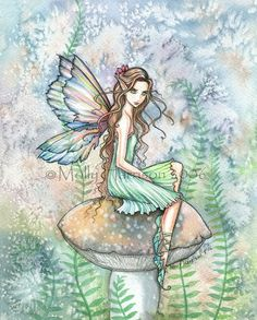 Fairy Art Fantasy Giclee stampe 9x12 da Molly Harrison