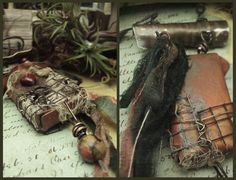Remembering a Time Mixed Media Necklace by AlteredAlchemy on Etsy