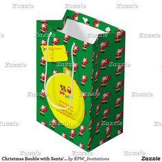 Christmas Bauble with Santa's & Sleigh Large Gift Medium Gift Bag