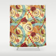 Europa Allover Design Shower Curtain by #PatriciaSheaDesigns on #Society6 - free worldwide shipping on all my shower curtains until March 9th 2014 - thanks!!
